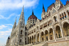 Parlament in Budapest Stockfotos