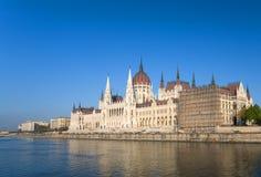 Parlament in Budapest Stockbild