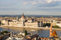 Parlament in Budapest with riverside Stock Images