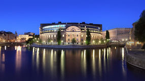 Parlament Building In Stockholm Stock Photography