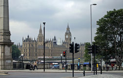 Parlament building, London. JUNE, London. Parliament building, view from Lambeth Palace Rd Stock Image