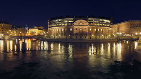 Parlament building in Stockholm stock footage