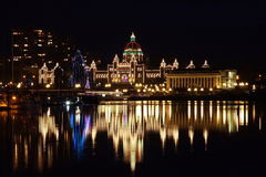 Parlament Building, Victoria BC. Parlament Building at night, Victoria BC Royalty Free Stock Photos