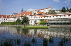 Parlament buildings and park, prague Royalty Free Stock Photo