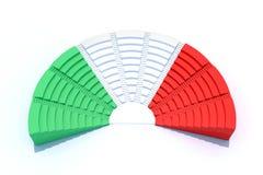 Parlament des Italieners 3d Lizenzfreie Stockfotos