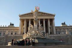 Parlament en Viena Fotos de archivo libres de regalías
