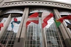 Parlament Europejski flaga Zdjęcia Stock