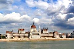 parlament för budapest byggnadsungrare Arkivfoto