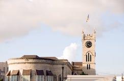 parlament för barbados bridgetown byggnadsflagga Arkivbild