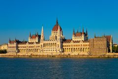 Parlament Hall in Budapest, Ungarn Lizenzfreie Stockfotografie