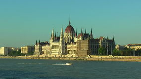 Parlament Hall i Budapest, Ungern stock video
