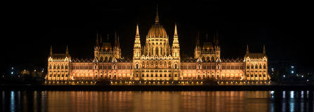 Parlament in Hungary at night Royalty Free Stock Photo