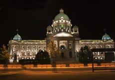 Belgrade parlament Arkivfoton
