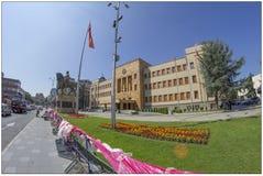 Parlament i Skopje, Makedonien royaltyfria bilder