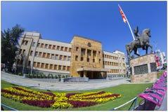 Parlament i Skopje, Makedonien arkivbild