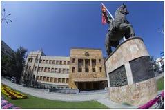 Parlament i Skopje, Makedonien royaltyfria foton