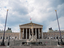 Parlament i Wien, Österrike Arkivfoto