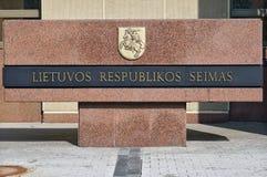 Parlament Lithuania Zdjęcie Stock