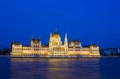 Parlament natt Royaltyfria Foton