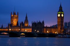 Parlament at night. Image of British parlament in London at dusk royalty free stock photography