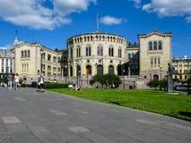 Parlament Norwegia w Oslo zdjęcia royalty free