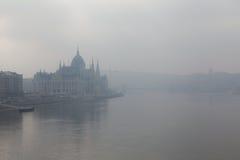 Parlament palace. Budapest Parlament palace near Danubio Stock Photo