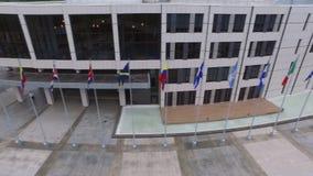 Parlament Panama otaczał flaga i drzewami zbiory