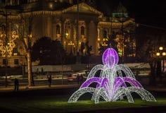 Parlament republiki Serbia nowego roku dekoracja obraz royalty free