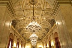 Parlament sala delegaci przy Assemblee Nationale, Paryż, Francja Obrazy Royalty Free