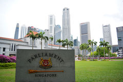 Parlament Singapore Royaltyfria Foton