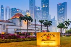 Parlament Singapur Obraz Royalty Free