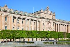 Parlament in Stockholm Stockbilder