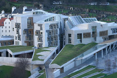 parlament szkocki lotniczego widok Obraz Royalty Free