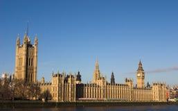 Parlament und Westminster-Brücke Lizenzfreies Stockbild
