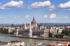 Parlament van Boedapest Stock Afbeeldingen