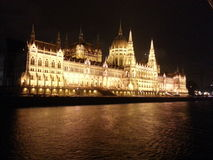 Parlament van Boedapest Stock Foto