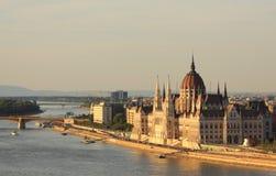 Parlament van Hongarije royalty-vrije stock afbeelding