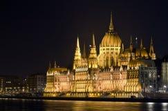 Parlament vid natt Royaltyfri Foto