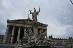 Parlament von Österreich in Wien lizenzfreies stockbild
