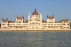 Parlament von Ungarn in Budapest Stockbild