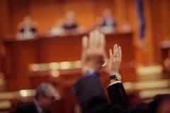Parlamentarier-Abstimmung Stockfotografie
