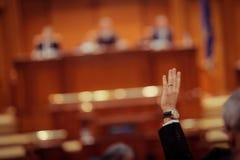 Parlamentarier-Abstimmung Lizenzfreie Stockfotos