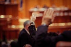 Parlamentarier-Abstimmung Stockfoto