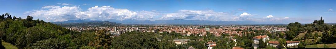 70 Parlamentarier Panorama von Vicenza Lizenzfreies Stockfoto