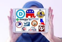 Parlamentarische Logos und Ikonen politischer Partei USA Stockfotografie