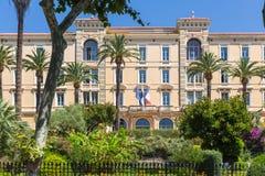 Parlamentarisches Gebäude in Ajaccio auf der Insel von Korsika Stockfotos