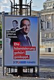 Parlamentary竞选在奥地利 库存照片