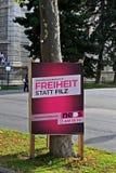 Parlamentary竞选在奥地利 免版税库存图片