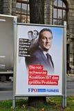 Parlamentary竞选在奥地利 免版税库存照片