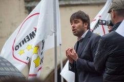 Parlamentary Alessandro di Battista från Movimento 5 Stelle (det italienska politiska partiet) Arkivbilder